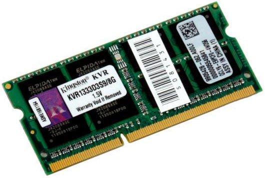 Оперативна пам'ять Kingston SODIMM DDR3-1333 8192MB PC3-10600 (KVR1333D3S9/8G) - зображення 1