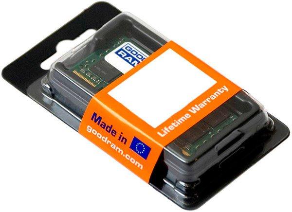 Оперативная память Goodram SODIMM DDR3-1600 8192MB PC3-12800 (GR1600S364L11/8G) - изображение 1