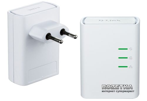 Комплект адаптерів PowerLine AV + D-Link DHP-309AV - зображення 1