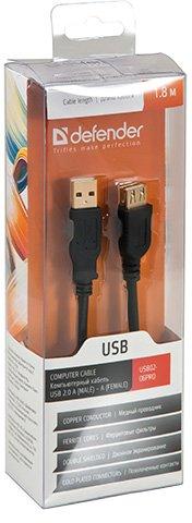 Кабель Defender Professional AM-AF USB 2.0 1.8 м (87429 (USB 02-06 PRO (1.8 м))) - зображення 1