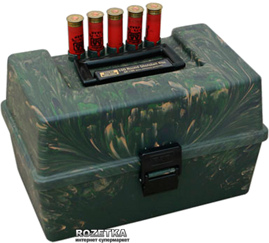 Коробка МТМ SF-100 для патронов 12 к 100 шт. Камуфляж (17730370) - изображение 1