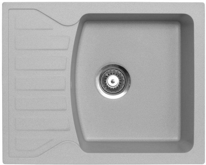 Кухонная мойка METALAC X GRANIT QUADRO M (144116) серый + сифон - изображение 1