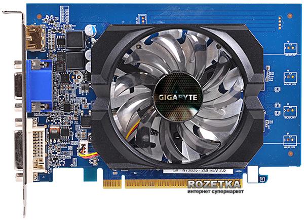 Gigabyte PCI-Ex GeForce GT 730 2048MB GDDR5 (64bit) (902/5000) (DVI, HDMI, D-Sub) (GV-N730D5-2GI) - изображение 1