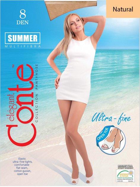 Колготки Conte Summer 8 Den Open Toe 2 р Natural -4810226050811 - изображение 1