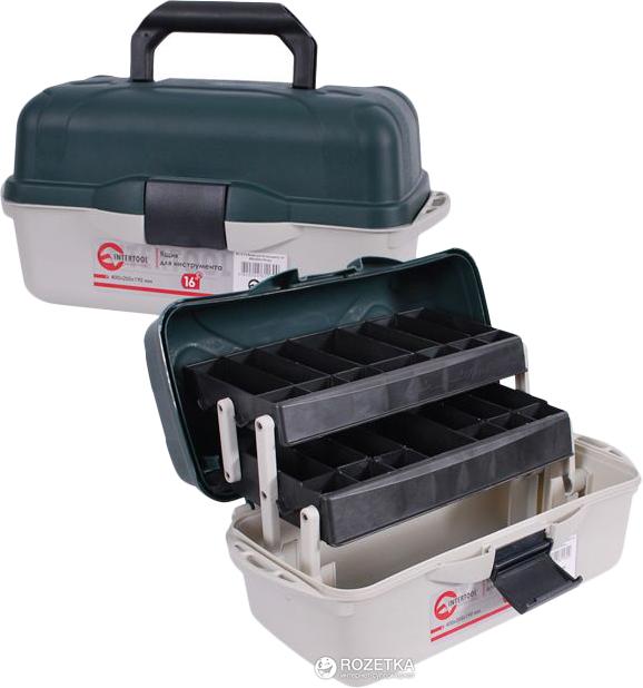 """Ящик для инструмента Intertool 16"""" 400 x 205 x 190 мм (BX-6116) - изображение 1"""