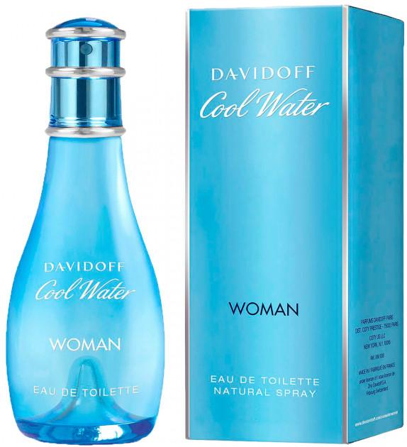 Туалетная вода для женщин Davidoff Cool Water Woman 50 мл (3414202011769) - изображение 1