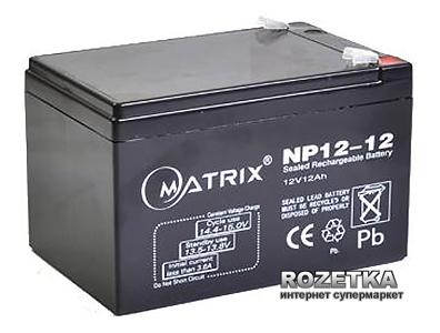 Аккумуляторная батарея Matrix 12V 12Ah (NP12-12) - изображение 1