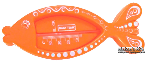Термометр для води Baby Team Помаранчевий (7301_помаранчевий) - зображення 1