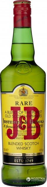 Виски J&B Rare выдержка 4 года 1 л 40% в подарочной упаковке (5010103800457) - изображение 1