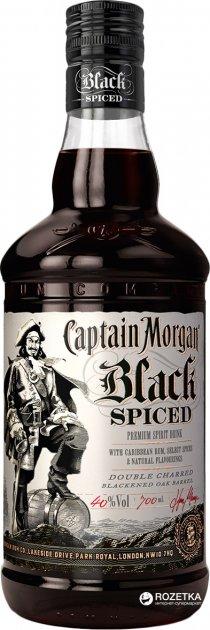 Ромовий напій Captain Morgan Spiced Black 0.7 л 40% (5000281033273) - зображення 1