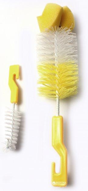 Йоршик для чищення пляшок і сосок Lindo РК 014-А з поролоном Жовтий (8850213100149) - зображення 1
