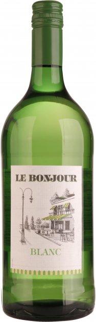 Вино Le Bonjour Blanc белое сухое 1 л 10.5% (3263286316044) - изображение 1