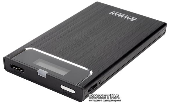 """Карман Zalman USB 3.0 для HDD 2.5"""" ZM-VE350 Black - зображення 1"""