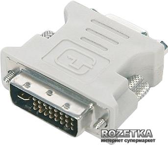 Перехідник Cablexpert DVI-A (24+5)-pin на VGA 15-pin (A-DVI-VGA) - зображення 1