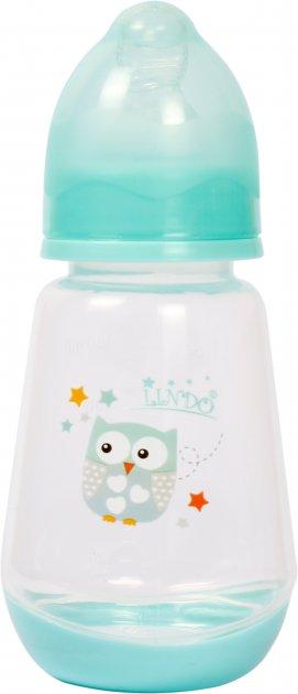 Бутылочка для кормления Lindo LI115 с силиконовой соской 125 мл Бирюзовая (8850214001155) - изображение 1