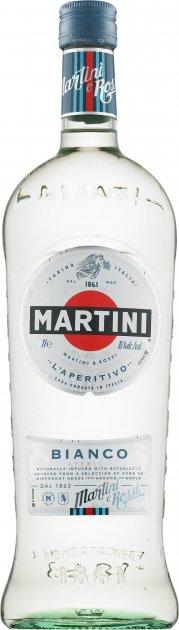 Вермут Martini Bianco сладкий 1 л 15% (5010677925006) - изображение 1