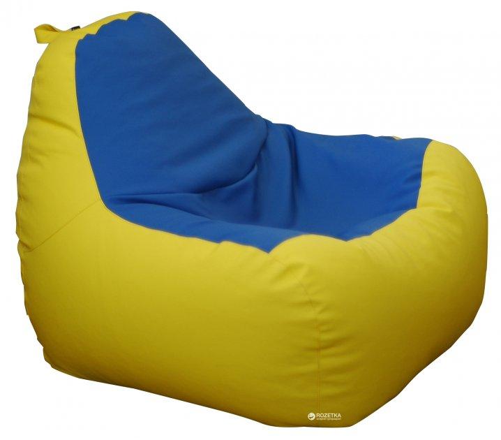 Крісло-Груша Примтекс Плюс Simba H-2240/H-2227 M Yellow-Blue (ordf) - зображення 1
