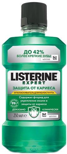 Ополаскиватель для ротовой полости Listerine Expert Защита от кариеса 250 мл (3574660639612) - изображение 1