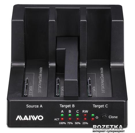 """Док-станція Maiwo для 3xHDD 2.5""""/3.5"""" SATA/SSD USB 3.0 (K3093) - зображення 1"""
