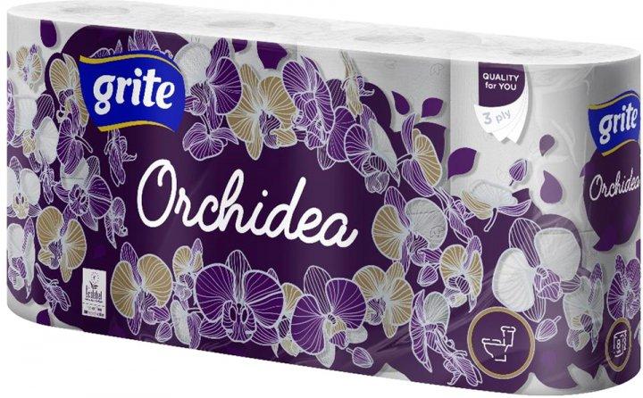 Туалетная бумага Grite Orchidea 17.4 м 145 отрывов 3 слоя 8 рулонов (4770023348033) - изображение 1