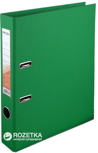 Папка-регистратор Delta by Axent A4 50 мм Арочный Зеленая (D1711-04C)
