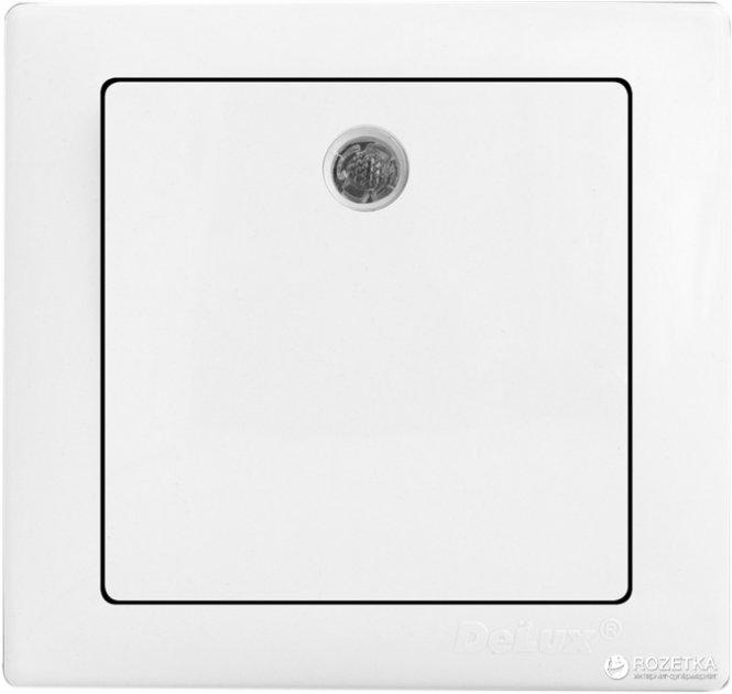 1-клавишный выключатель Delux Wega 9121 Белый (10040338) - изображение 1