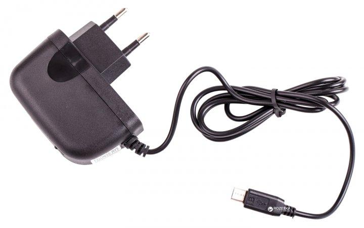 Сетевое зарядное устройство Drobak Win Cable 220V-USB Black (905324) - изображение 1