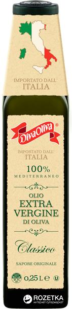 Оливкова олія Diva Oliva Extra Vergine Classico 250 мл (5060235650987) - зображення 1