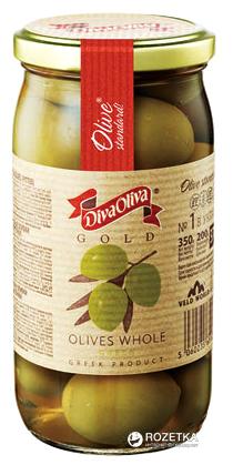 Оливки зелені з кісточкою Diva Oliva Gold 370 мл (5060235651274) - зображення 1