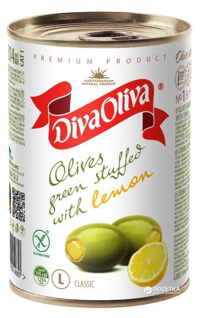 Оливки зеленые с лимоном Diva Oliva 300 г (5060162901480 / 8436024292022) - изображение 1