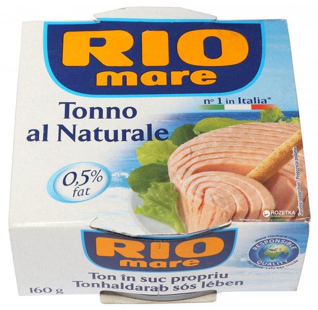Тунець у власному соку Rio Mare 160 г (80040446) - зображення 1