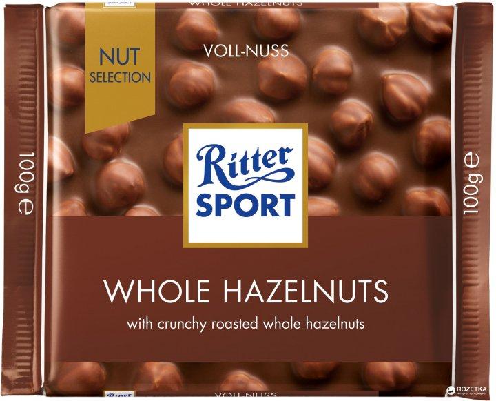 Шоколад Ritter Sport Nut Selection молочный с цельными лесными орехами 100 г (4000417700001_374373) - изображение 1