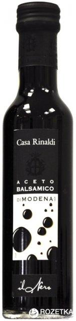 Уксус Casa Rinaldi бальзамический из Модены 6% 250 мл (этикетка черная) (8006165388092) - изображение 1