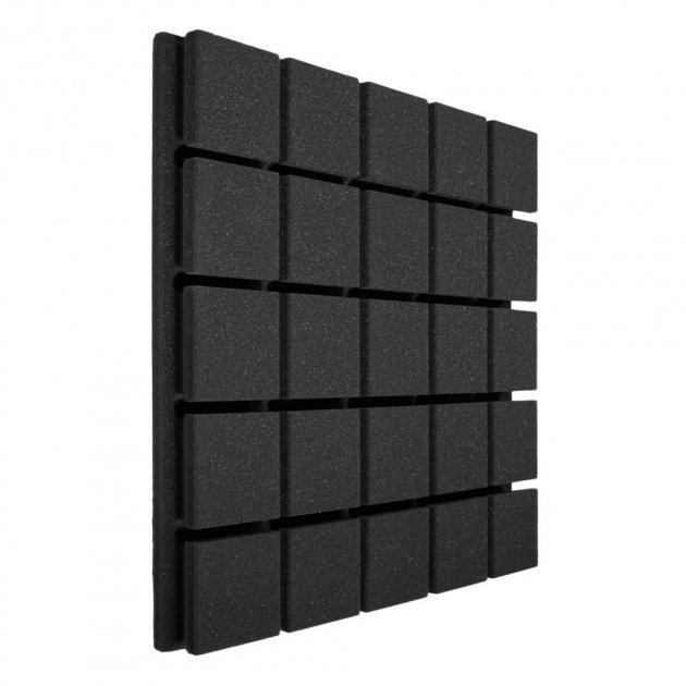 Панель з акустичного поролону Ecosound Tetras Black 20 50х50 см Чорний графіт - зображення 1