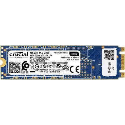 Накопичувач SSD M. 2 2280 500GB MICRON (CT500MX500SSD4) - зображення 1