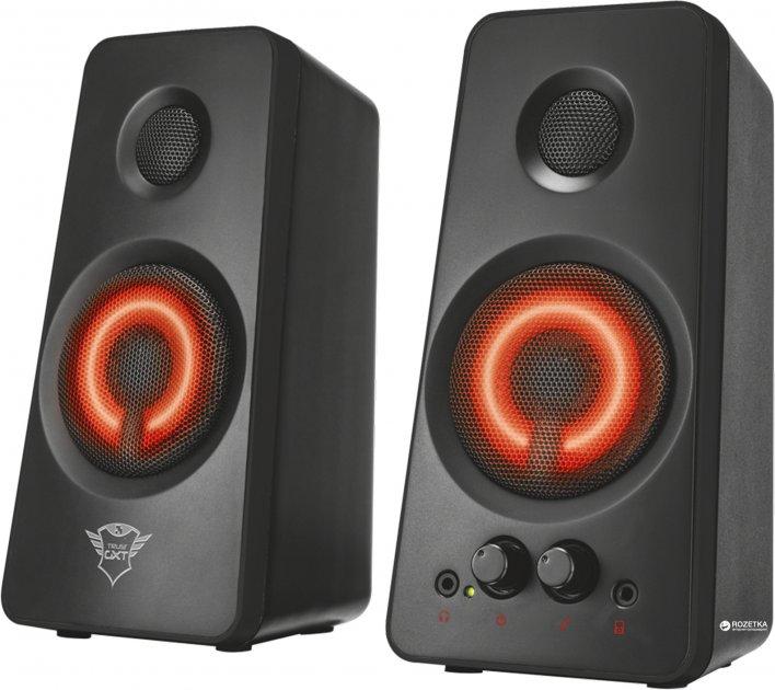 Акустическая система Trust GXT 608 Illuminated 2.0 Speaker Set Black (TR21202) - изображение 1
