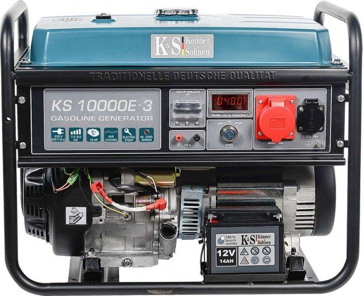 Генератор бензиновый Konner&Sohnen KS 10000E-3 - изображение 1