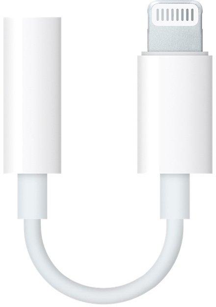 Адаптер Apple Lightning - 3.5 mm White (MMX62ZM/A) - изображение 1