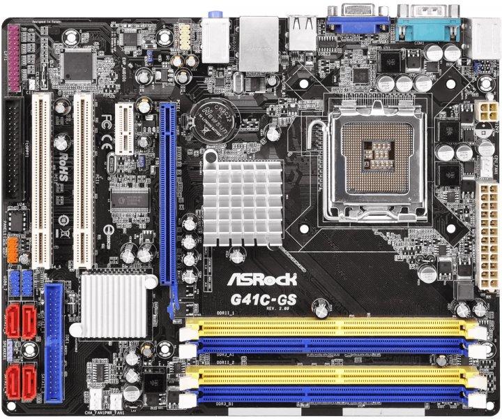 Материнская плата ASRock G41C-GS R2.0 (s775, Intel G41 + Intel ICH7, PCI-Ex16) - изображение 1