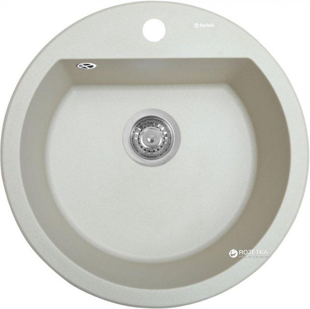 Кухонна мийка PERFELLI Sonno RGS 105-51 Light Beige - зображення 1