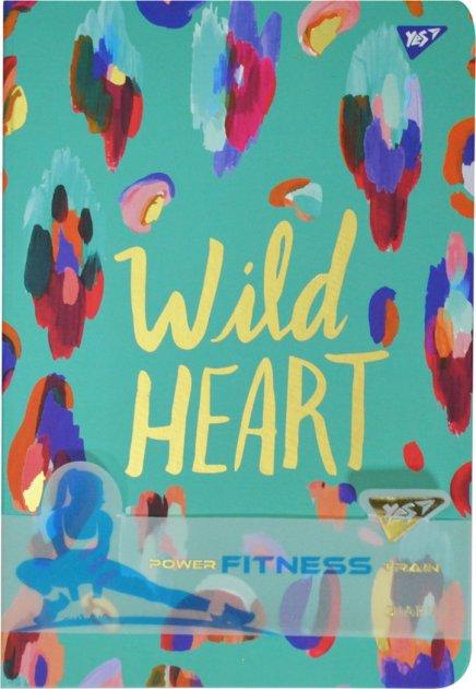 Блокнот-мотиватор YES Wild Heart серии Fitness 140 х 210 мм 192 страницы (151581) - изображение 1