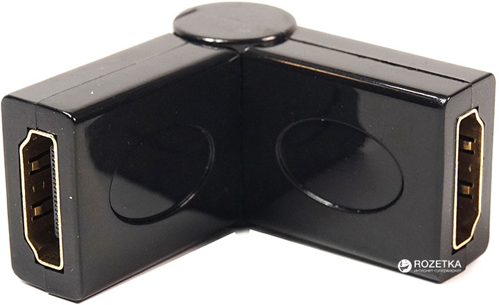 Перехідник PowerPlant HDMI AF - AF 360 градусів (KD00AS1299) - зображення 1