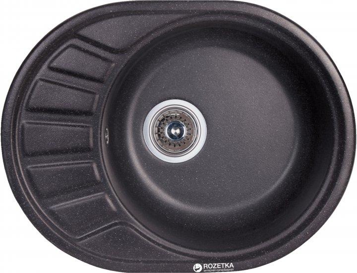 Кухонна мийка COSH 58x45 kolor 420 обсидіан - зображення 1