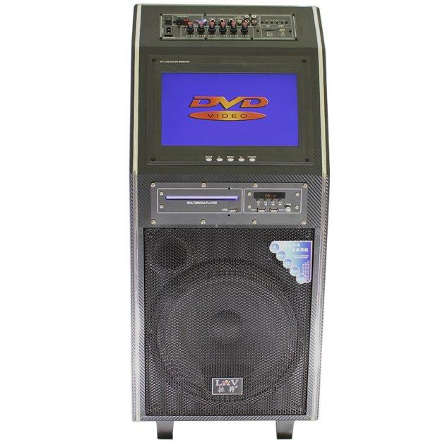 """Акустична система LAV PA-212 Black 300 Вт 12"""" Екран 2 мікрофона, пульт - зображення 1"""