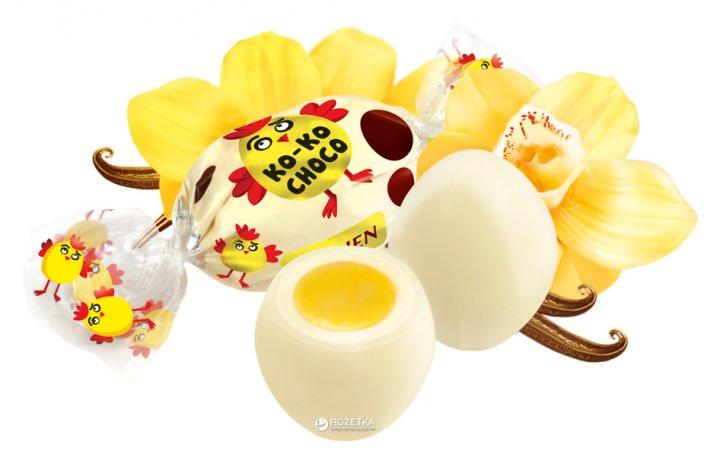 Конфеты глазированные Roshen Ko-Ko Choco White 1 кг (4823077607349_4823077607332) - изображение 1