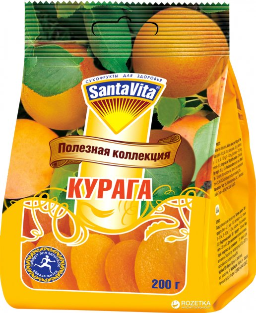 Курага SantaVita Корисна колекція 200 г (4820061500587) - зображення 1