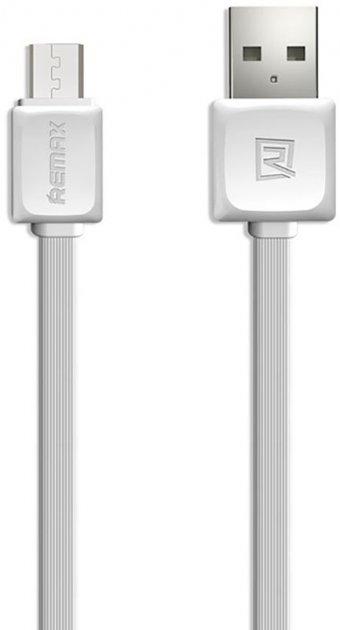 Кабель Remax Fast Data Micro-USB 1m White - изображение 1