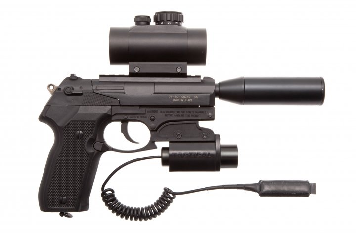Пистолет пневматический Gamo PT-80 Tactical Gamo Черный - зображення 1