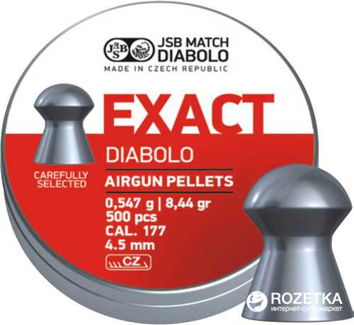 Свинцеві кулі JSB Diabolo Exact 0.547 г 500 шт. (14530533) - зображення 1