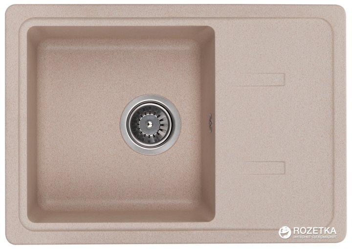 Кухонна мийка GRANADO Palma avena (2002) + сифон одинарний для кухонної мийки Nova - зображення 1